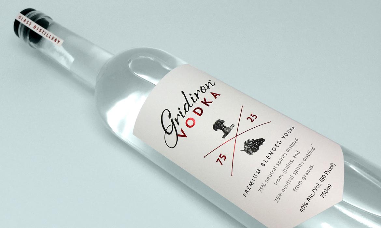 gridiron vodka label feature image