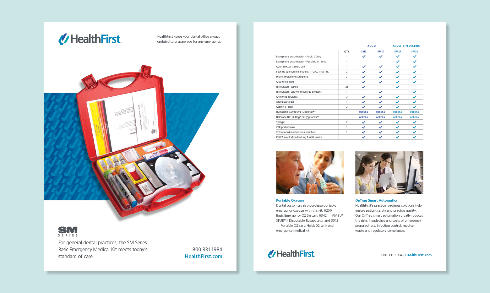 HealthFirst flyer design