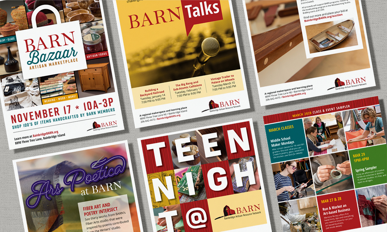 BARN event flyers
