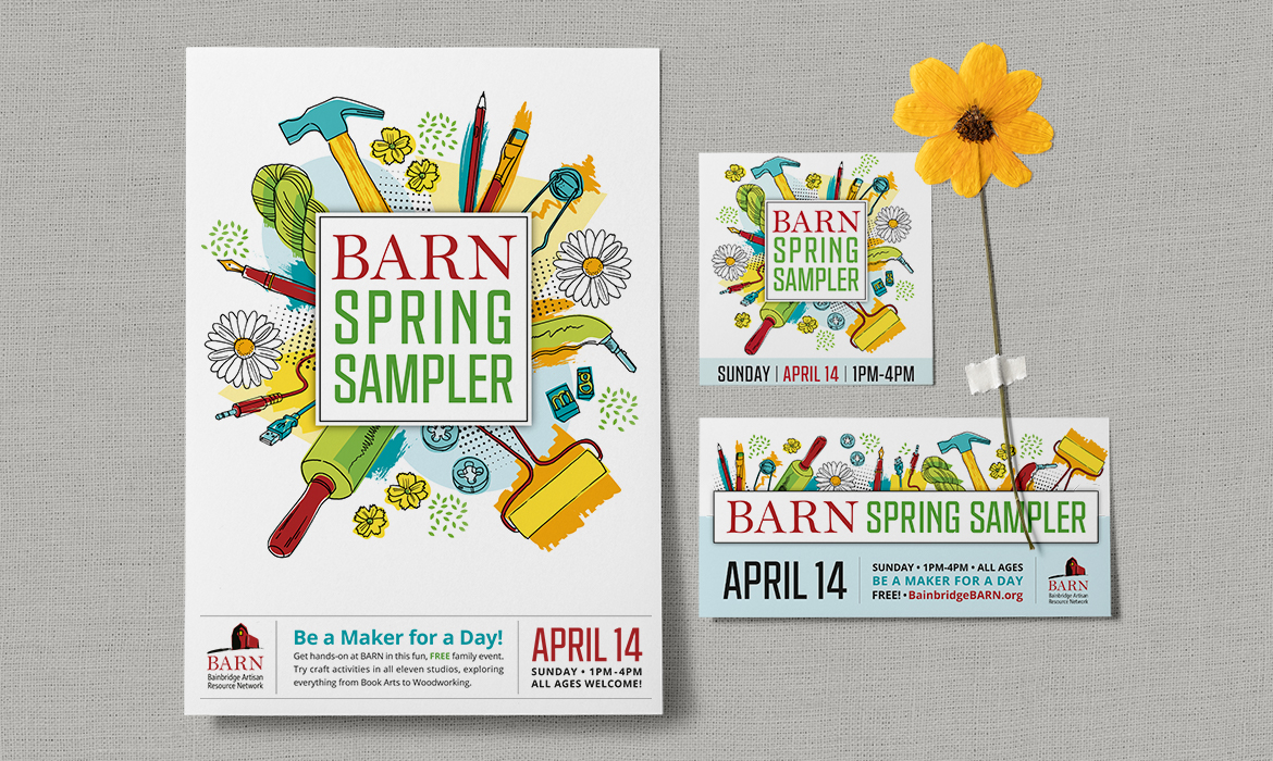 BARN Spring Sampler poster and collateral