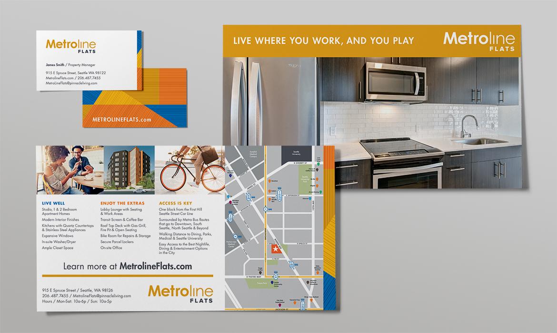 Metroline Flats marketing collateral
