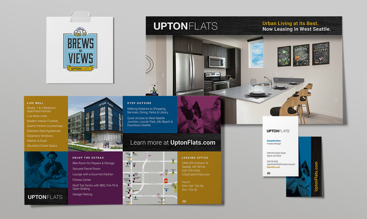 Upton Flats marketing collateral