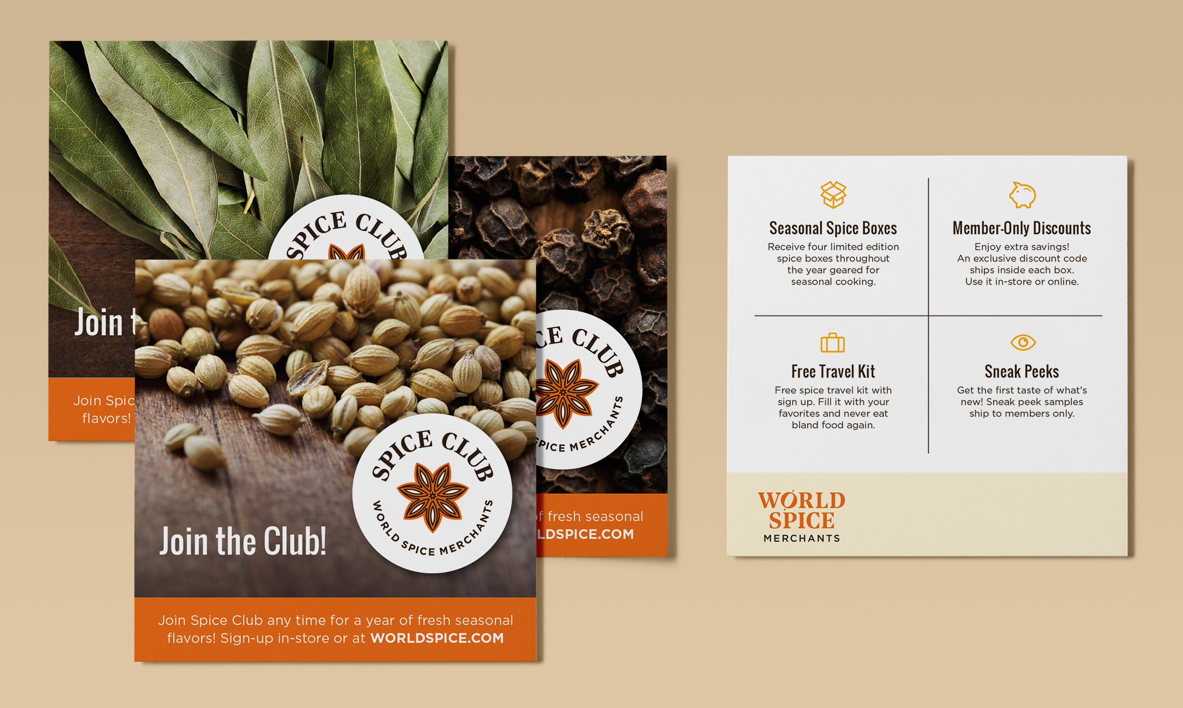 Spice Club promotional cards