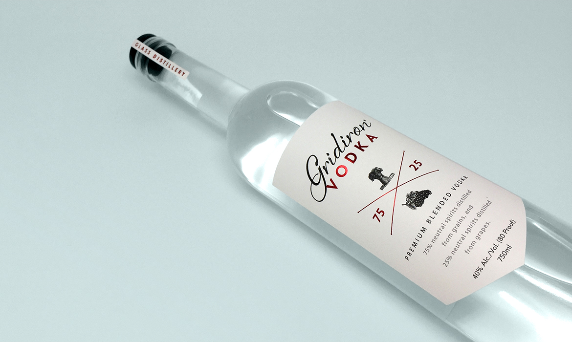 gridiron vodka label