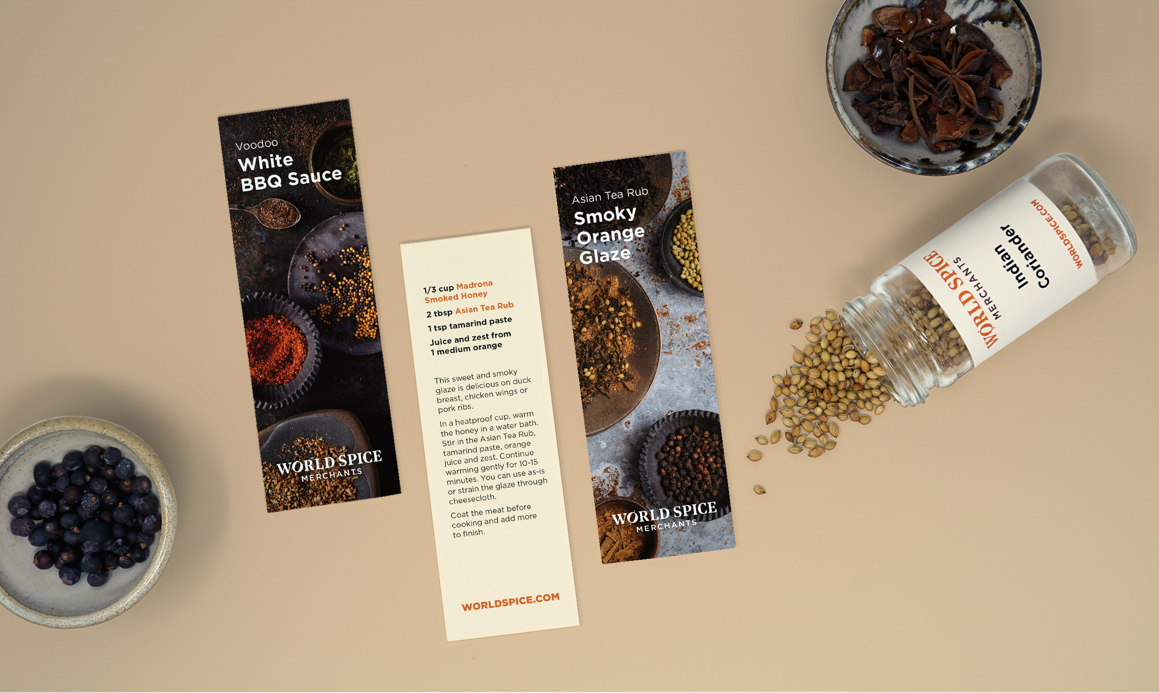 World Spice recipe bookmarks